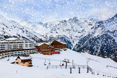 Mountains ski resort Solden Austria Royalty Free Stock Photo