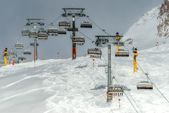 Mountains ski resort Solden Austria stock image