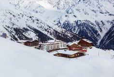 Mountains ski resort Solden Austria Royalty Free Stock Image