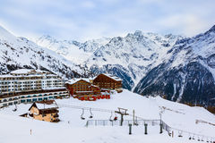 Mountains ski resort Solden Austria Stock Photos