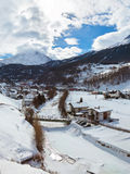 Mountains ski resort Solden Austria Stock Photography