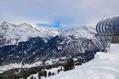 Mountains ski resort Solden Austria Royalty Free Stock Image