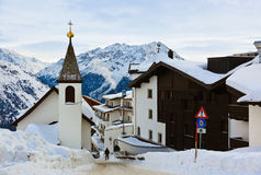 Mountains ski resort Solden Austria Royalty Free Stock Photography