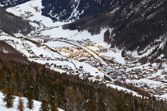 Mountains ski resort Solden Austria Royalty Free Stock Images
