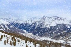 Mountains ski resort Solden Austria Stock Images