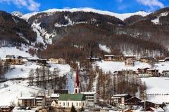 Mountains ski resort Solden Austria Royalty Free Stock Photography