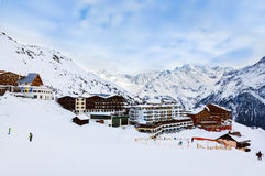 Mountains ski resort Solden Austria Stock Images