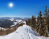 Mountains ski resort St. Gilgen Austria Royalty Free Stock Photo