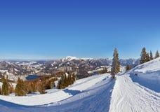Mountains ski resort St. Gilgen Austria Royalty Free Stock Images