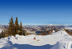 Mountains ski resort St. Gilgen Austria Stock Images
