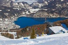 Mountains ski resort St. Gilgen Austria Stock Photography
