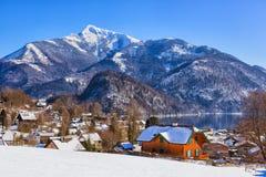 Mountains ski resort St. Gilgen Austria Royalty Free Stock Photography