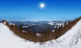 Mountains ski resort St. Gilgen Austria Royalty Free Stock Image