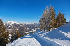 Mountains ski resort St. Gilgen Austria Royalty Free Stock Image