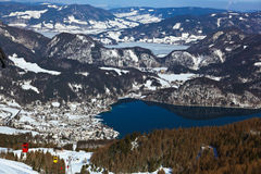 Mountains ski resort St. Gilgen Austria Stock Image