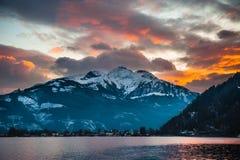 Mountains ski resort Zell am See Austria Stock Image