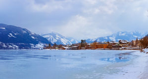 Mountains ski resort Zell am See - Austria Royalty Free Stock Photos