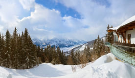 Mountains ski resort Zell-am-See Austria Royalty Free Stock Photography