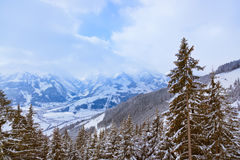 Mountains ski resort Zell-am-See Austria Royalty Free Stock Image