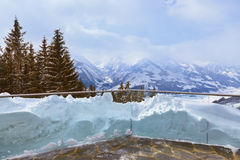 Mountains ski resort Zell-am-See Austria Royalty Free Stock Photo