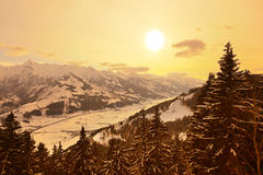 Mountains ski resort Zell-am-See Austria Stock Photos