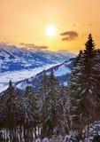 Mountains ski resort Zell-am-See Austria Royalty Free Stock Photos