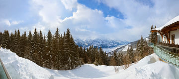 Mountains ski resort Zell-am-See Austria Stock Image