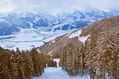 Mountains ski resort Zell-am-See Austria Stock Photography
