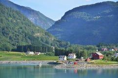 Mountains of Skjolden Stock Photo