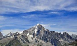 Mountains and sky, Chamonix Mont Blanc Stock Photography