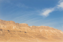 Mountains and sky in the Israel desert Royalty Free Stock Photo