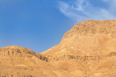 Mountains and sky in the Israel desert Stock Images
