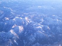 Mountains from the sky Stock Images
