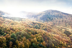 Mountains in Slovakia: Beautiful landscape in autumn. Colorful f. Mountains in Slovakia: Beautiful landscape in autumn. Colorful deciduous forest Royalty Free Stock Image