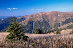 Mountains of Slovakia. View of the Slovak mountains Royalty Free Stock Images
