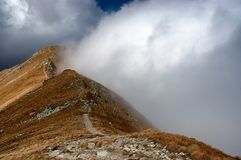 Mountains of Slovakia. View of the Slovak mountains Royalty Free Stock Image