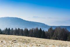 Mountains in smog. Royalty Free Stock Photos
