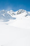Mountains in snow Royalty Free Stock Photo