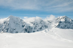 Mountains in snow Royalty Free Stock Image
