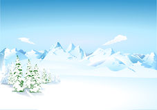 Mountains in the snow. Alpine Mountains in the snow Stock Image