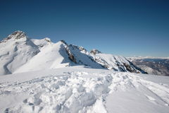 Mountains with snow stock photo
