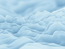 Mountains Of Snow Abstract Background. Layers of white mountains that look like snowy layers under a blue sky illustration Stock Images
