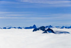Mountains and Snow in Alaska Stock Photography
