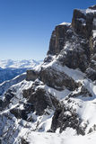 Mountains. Snow covered mountains in the Alps, Switzerland, Europe royalty free stock image