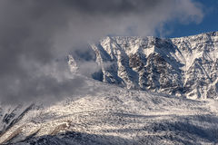 Mountains snow glacier clouds Royalty Free Stock Image