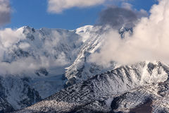 Mountains snow glacier clouds Royalty Free Stock Photography