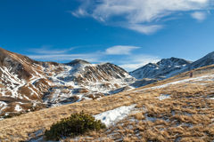 Mountains with snow - Pyrenees. Winter begins in the Pyrenees Stock Photography