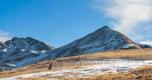 Mountains with snow - Pyrenees. Winter begins in the Pyrenees Stock Images