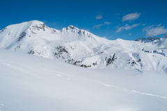 Mountains with snow Stock Images