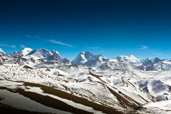 Mountains and snow of Southern Tibet Stock Photos